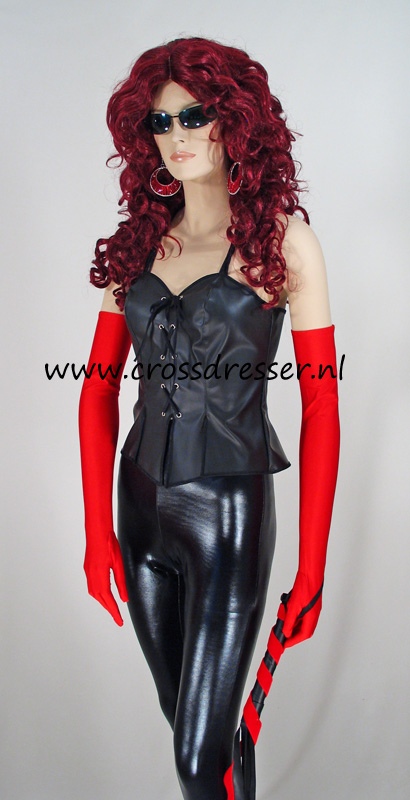 Leather Mistress Costume, Original High Quality Mistress / Domina Crossdresser Design by Crossdresser.nl - photo 2.