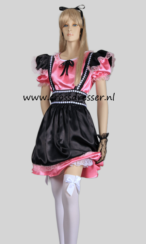 Fantasy French Maid Costume, from our Sexy French Maids Collection, Original designs by Crossdresser.nl - photo 11.
