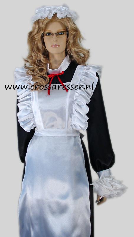 Victorian French Maid Crossdresser Costume Uniform