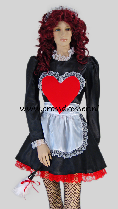 Ooh La La Sexy French Maid Crossdresser Costume Uniform