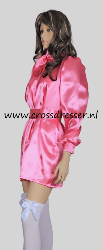 Sissy Maid Satin Lust Costume Uniform Sexy